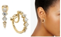 "Eliot Danori Danori Crystal Small Clip-On Hoop Earrings, Created For Macy's 7/8"""