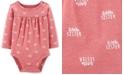 Carter's Baby Girls Little Sister-Print Cotton Bodysuit