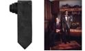 Tallia Men's Slim Black Tonal Paisley Silk Tie