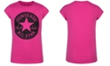 Converse Big Girls Glitter Logo-Print Cotton T-Shirt
