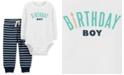 Carter's Baby Boys Cotton 2-Pc. Bodysuit & Jogger Pants Set