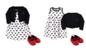 Hudson Baby Dress, Cardigan, Shoe Set, 3 Piece, Scottie Dog, 6-9 Months