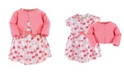 Touched by Nature Organic Cotton Dress and Cardigan Set, Rosebud, 2 Toddler