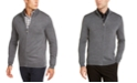 Tasso Elba Men's Solid Full-Zip Mock-Neck Merino Wool Blend Sweater, Created for Macy's