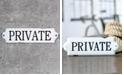"VIP Home & Garden Metal ""Private"" Word Art"