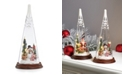 Lenox Glass Lit Snowman Friends Figurine