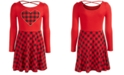 Epic Threads Big Girls Heart Plaid Dress, Created For Macy's