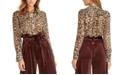 RACHEL Rachel Roy Sheer Leopard-Print Top