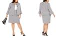 Nine West Plus Size Houndstooth-Print Bell-Sleeve Blazer & Pencil Skirt