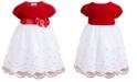 Blueberi Boulevard Baby Girls Velvet & Sparkle Tulle Dress