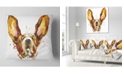 "Design Art Designart Funny Brown Dog Basset Animal Throw Pillow - 16"" X 16"""