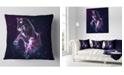 "Design Art Designart Purple Abstract Horse Animal Throw Pillow - 16"" X 16"""
