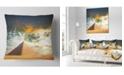 "Design Art Designart Egyptian Pyramid Under Cloudy Skies Modern Landscape Printed Throw Pillow - 18"" X 18"""