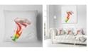 "Design Art Designart Colorful Bell Flower Sketch Watercolor Floral Throw Pillow - 18"" X 18"""