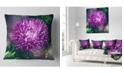 """Design Art Designart Chrysanthemum Flower With Bokeh Flowers Throw Pillowwork - 16"""" X 16"""""""