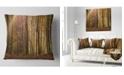 "Design Art Designart Dense Forest In Rays Of Rising Sun Forest Throw Pillow - 18"" X 18"""