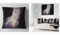 "Design Art Designart Elegant Fantasy Fractal Design Abstract Throw Pillow - 16"" X 16"""