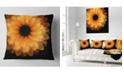 """Design Art Designart Fractal Flower Petals On Black Floral Throw Pillow - 18"""" X 18"""""""