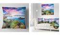 "Design Art Designart Sunset From The Giallonardo Beach Landscape Printed Throw Pillow - 18"" X 18"""