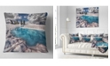 "Design Art Designart Amazing Blue Melt Lake In Fog Landscape Printed Throw Pillow - 16"" X 16"""