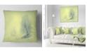 "Design Art Designart Beautiful Winter Snow Valley Landscape Printed Throw Pillow - 18"" X 18"""