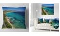 "Design Art Designart Beautiful Greek Beach Of Sea Seashore Throw Pillow - 16"" X 16"""