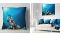 "Design Art Designart Broadclub Cuttlefish Underwater Seashore Throw Pillow - 18"" X 18"""