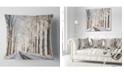 "Design Art Designart Beautiful Winter Lane At Morning Forest Throw Pillow - 16"" X 16"""