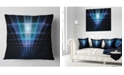 "Design Art Designart Blue Laser Protective Grids Abstract Throw Pillow - 16"" X 16"""