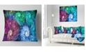 """Design Art Designart Multi Color Bright Exotic Flowers Abstract Throw Pillow - 18"""" X 18"""""""