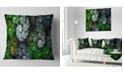 "Design Art Designart Bright Exotic Spiral Flowers Abstract Throw Pillow - 16"" X 16"""