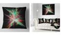 """Design Art Designart Green Red Spectrum Of Light Abstract Throw Pillow - 16"""" X 16"""""""