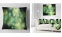 """Design Art Designart Perfect Green Starry Sky Abstract Throw Pillow - 18"""" X 18"""""""