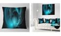 "Design Art Designart Blue Fractal Galactic Nebula Abstract Throw Pillow - 16"" X 16"""