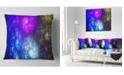 "Design Art Designart Colorful Fractal Rotating Galaxies Abstract Throw Pillow - 18"" X 18"""