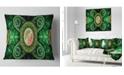 "Design Art Designart Green Psychedelic Relaxing Art Abstract Throw Pillow - 18"" X 18"""