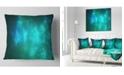 """Design Art Designart Blue Starry Fractal Sky Abstract Throw Pillow - 16"""" X 16"""""""