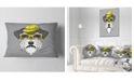 """Design Art Designart Schnauzer With Hat And Glasses Contemporary Animal Throw Pillow - 12"""" X 20"""""""