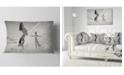 "Design Art Designart Woman With Majestic Horse Animal Throw Pillow - 12"" X 20"""