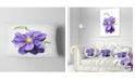 """Design Art Designart Purple Watercolor Summer Flower Floral Throw Pillow - 12"""" X 20"""""""