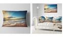 """Design Art Designart Exotic Beach In Dominican Republic Seashore Throw Pillow - 12"""" X 20"""""""