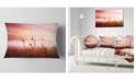 """Design Art Designart Foggy Land With Early Morning Mist Landscape Printed Throw Pillow - 12"""" X 20"""""""