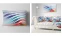 "Design Art Designart Water Ripples Rainbow Waves Abstract Throw Pillow - 12"" X 20"""