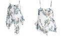 City Chic Trendy Plus Size Glasshouse Printed Asymmetrical Top