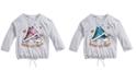 Beautees Big Girls Flip Sequin Sneakers T-Shirt