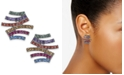 INC International Concepts INC Hematite-Tone Multicolor Pave Zigzag Stud Earrings, Created For Macy's