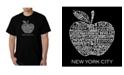 LA Pop Art Men's Word Art T-Shirt - Neighborhoods in NYC