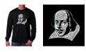 LA Pop Art Men's Word Art Long Sleeve T-Shirt - Shakespeare
