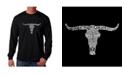 LA Pop Art Men's Word Art Long Sleeve T-Shirt - Outlaws