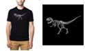LA Pop Art Men's Premium Word Art T-Shirt - Dinosaur T-Rex Skeleton